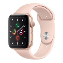 Apple Watch 5 GPS 44mm Gold Aluminum Case With Pink Sand Sport Band